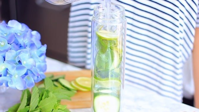 Cucumber Lime Mint Drink step 5
