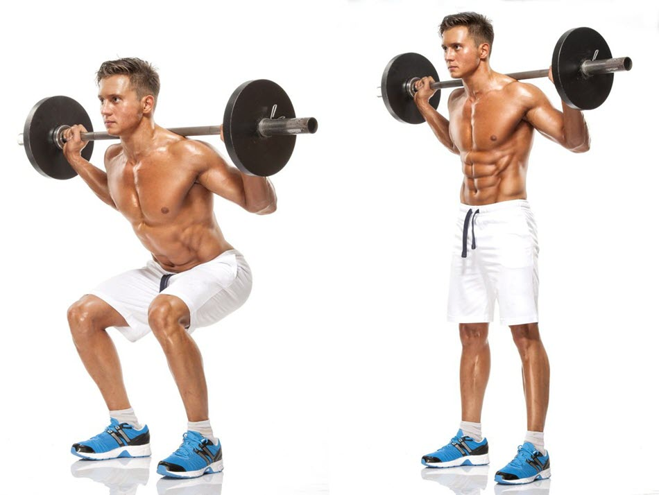 how to do The barbell squat