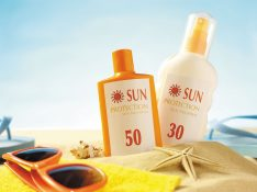 Use sunscreen to keep off UV rays from the skin.