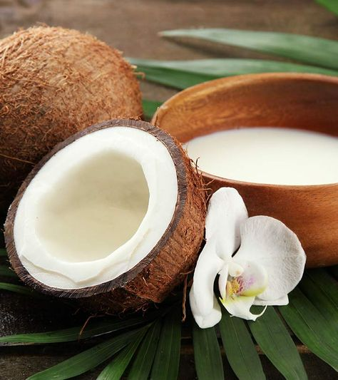 Coconut milk to give essential fats for shinier hair