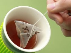 The microplastic materials in teabags