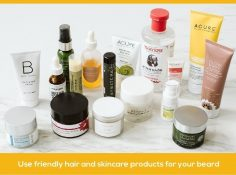 friendly hair and skincare products for your beard.