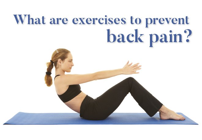 What are exercises to prevent back pain?