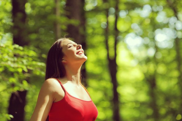 Healthy lungs is one of the health benefits of being outdoors