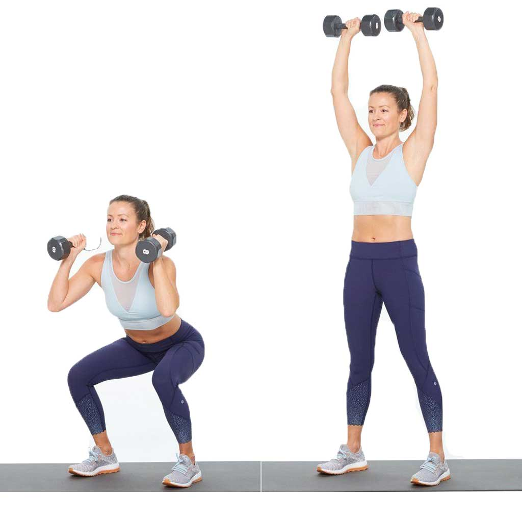 Squat and Press using a dumbbell10